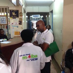 Active healthcare provider clinic tour - Bob Collymore